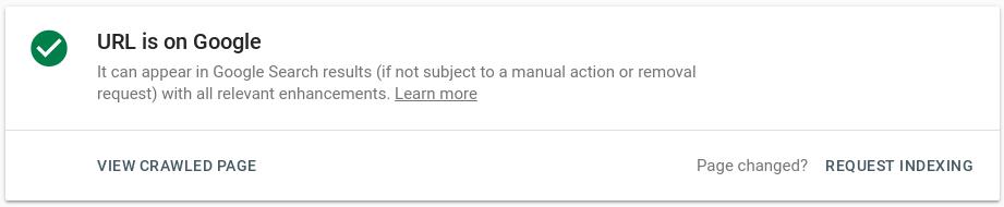 Google Webmaster Tools: Request reindexing