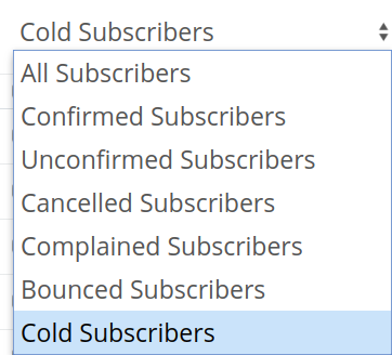 ConvertKit filter on cold subscribers